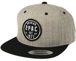 2Pac Shakur heather grey/black Snapback - Mister Tee