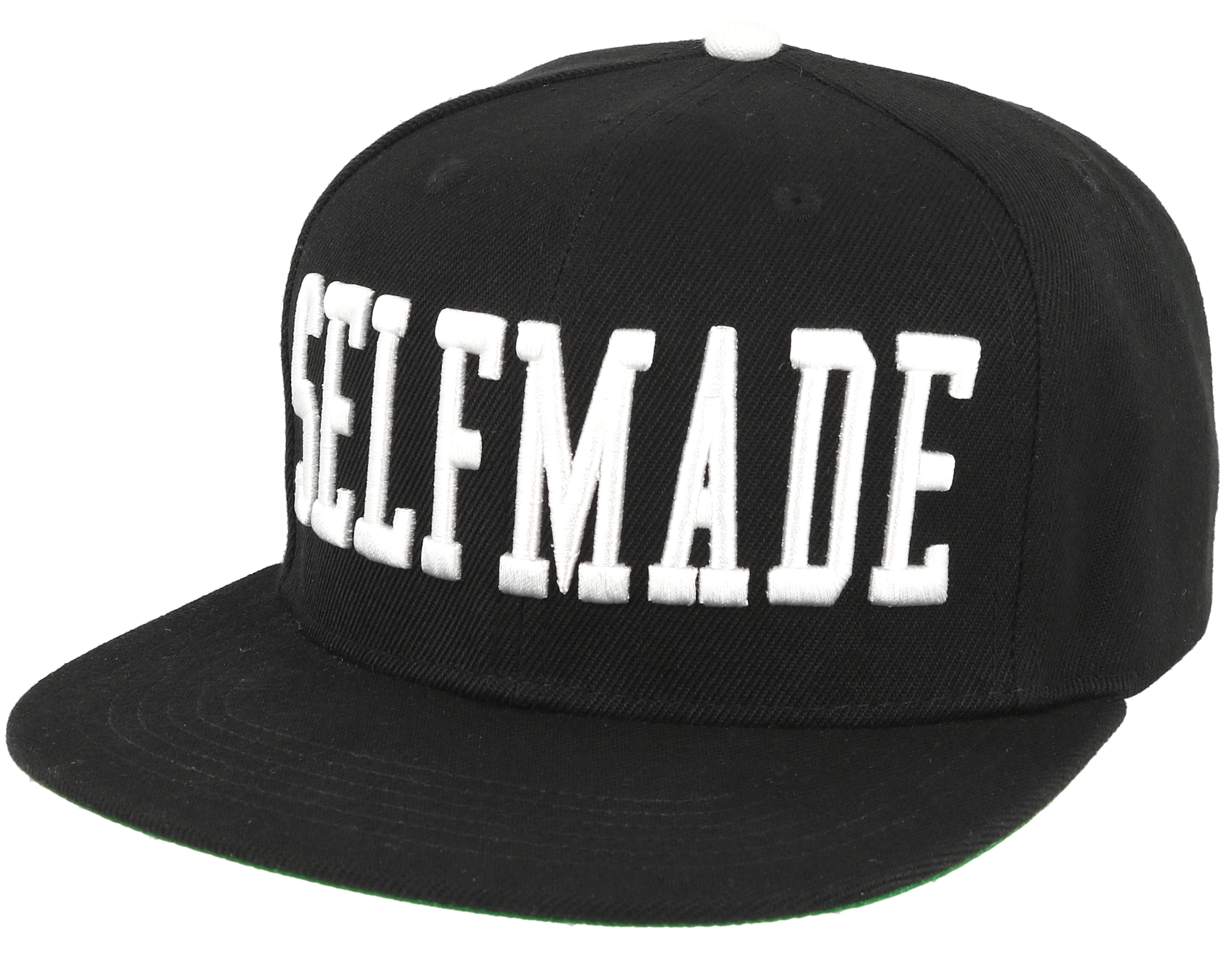 Selfmade Black White Snapback - Galagowear caps  0429e7b659e