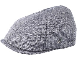 Sixpence Fishbone Black Flat Cap - City Sport