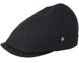 Sixpence Stripe Black Flat Cap - City Sport