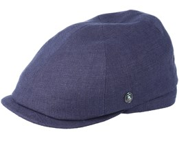 Sixpence Stripe Navy Flat Cap - City Sport