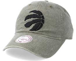 Toronto Raptors Blast Wash Slouch Strapback Olive Adjustable - Mitchell & Ness