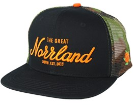 Great Norrland Trucker Black/Camo Snapback - Sqrtn