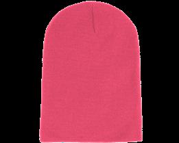 Long Beanie Fluorescent  Pink - Beanie Basic