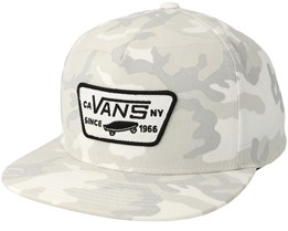 Full Patch Snow Camo Snapback - Vans