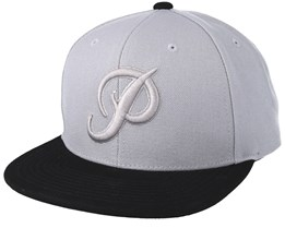 Classic P Canvas Grey/Black Snapback - Primitive