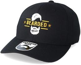 Beard Logo Black Flexfit - Bearded Man