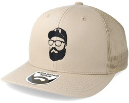 Cap Man Beige Trucker - Bearded Man