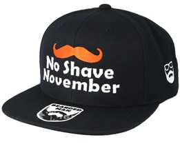 No Shave November Black Snapback - Bearded Man