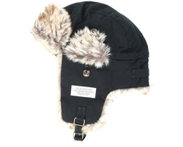 Cold Winter Pelt Black Beanie - Sqrtn