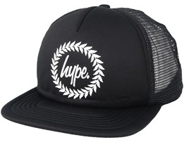 Crest Trucker Black/White Snapback - Hype