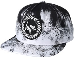 Smudge Black/White Snapback - Hype
