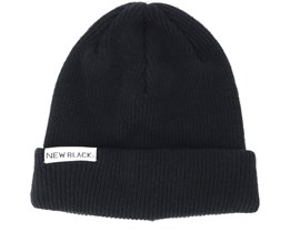 Wool Black Beanie - New Black