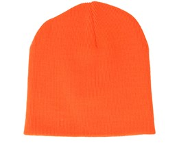 Original Pull-On Flourecent Orange Beanie - Beanie Basic
