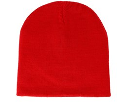 Knitted Classic Red Beanie - Beanie Basic