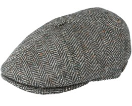 Rebel 100% Virgin Wool Green Herringbone Flatcap - MJM Hats