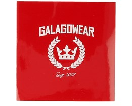 Sticker Logo 10x10 CM Red - Galagowear