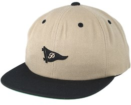 Felt Up Pennant Camel Strapback - Primitive Apparel