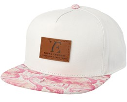 Kids Flamingo White Snapback - Young Enough