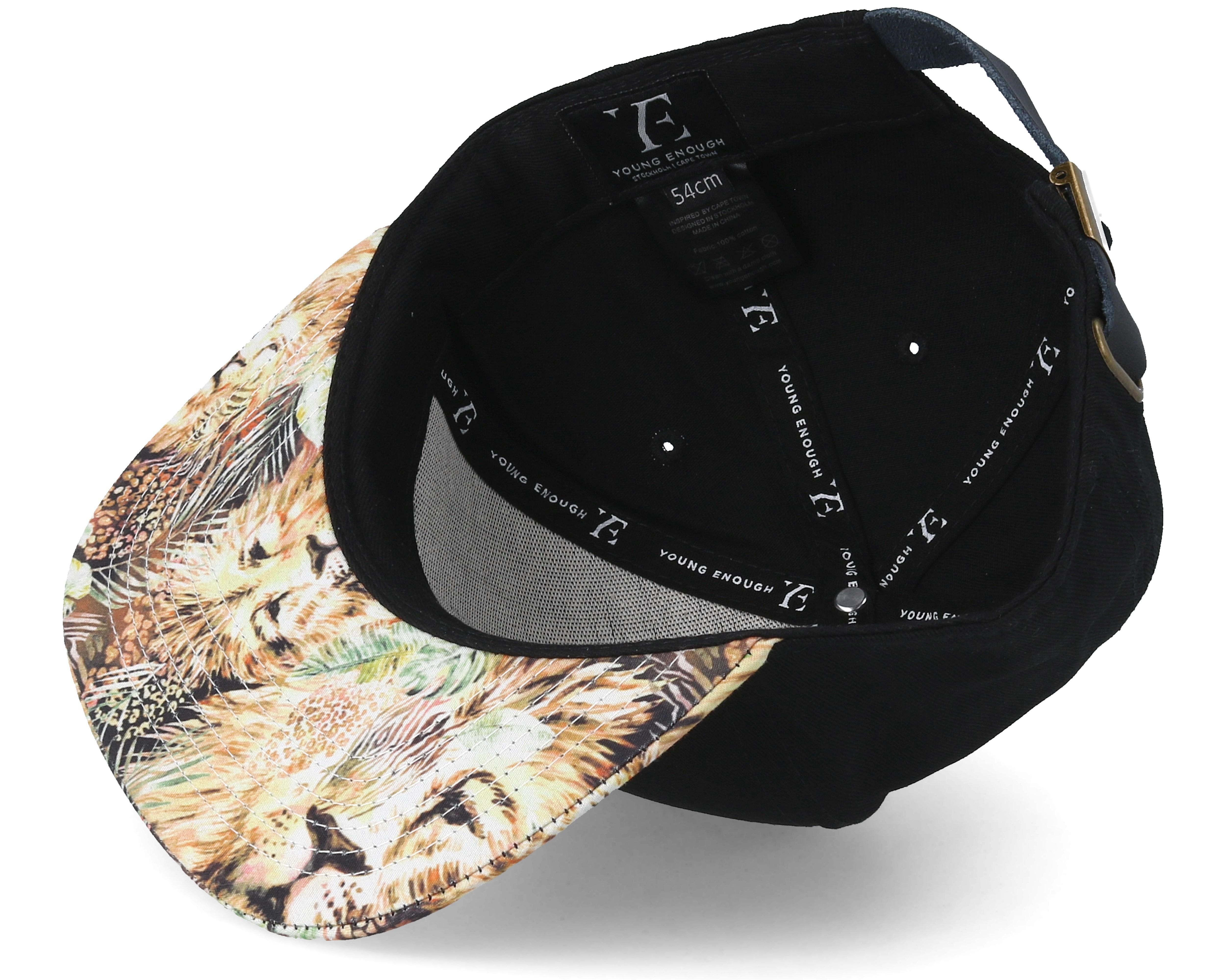 Kids Lion Black Snapback Young Enough Caps Hatstore Co Uk