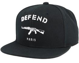 Paris Black Snapback - Defend Paris