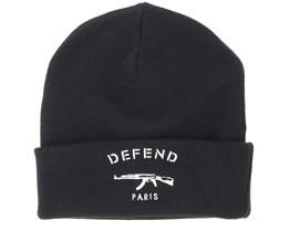 Paris Black Beanie - Defend Paris