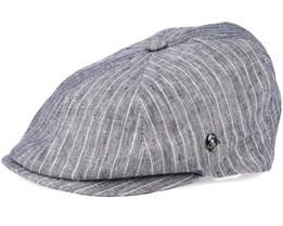 Sixpence Stripe Grey Flat Cap - City Sport