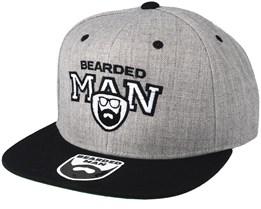9a14e5f3126 Team BM Grey Black Snapback - Bearded Man