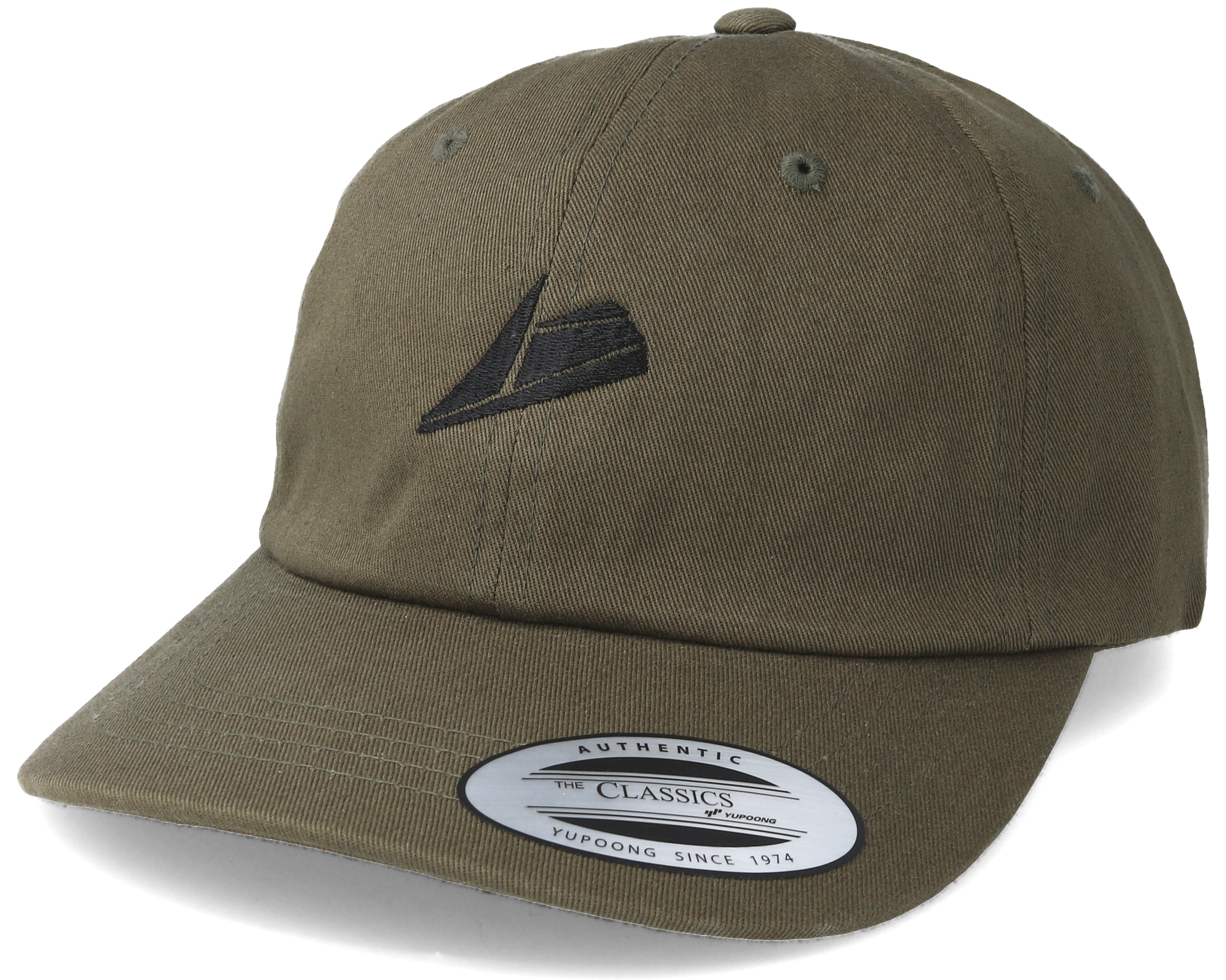 Black Logo Olive Dad Cap Adjustable - Sneakers caps  ddbce3f8377