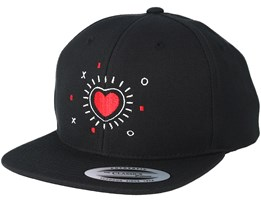 Kids Heart Sky Black Kids Snapback - Kiddo Cap