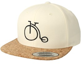 Old School Bike White/Cork Snapback - Bike Souls