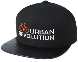 Urban Revolution Orange/White Carbon Snapback - Bike Souls