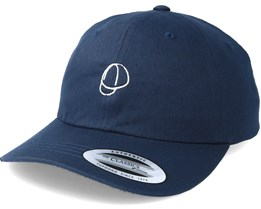 Bike Cap Navy/White Adjustable - Bike Souls