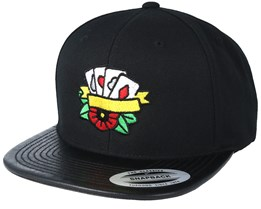 Cards Color Leather Black Snapback - Tattoo Collective