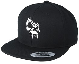 Angry Skull Black Snapback - Tattoo Collective