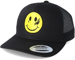 Smiley Tattoo Black Trucker - Tattoo Collective