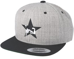 Star Muscle Grey/Black Snapback - Berzerk