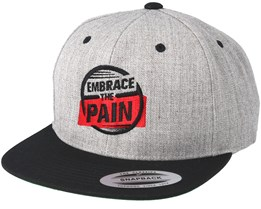 Embrace The Pain Grey/Black Snapback - Berzerk