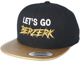 Lets Go Berzerk Black/Gold Snapback - Berzerk