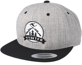 Rifles Badge Grey/Black Snapback - Hunter