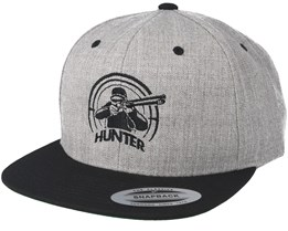 Crosshair Badge Grey/Black Snapback - Hunter