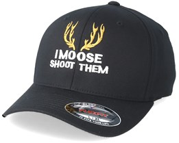 I Moose Shot Them Black Flexfit - Hunter