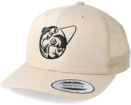 Fishing Circle Khaki Trucker - Hunter