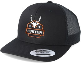 Deer Badge Black Trucker - Hunter