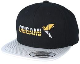 Logo Text Black/Silver - Origami