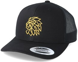 Head Logo Black/Gold Trucker - Lions