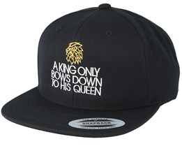 A King Only Bows Down To His Queen Black Snapback - Lions