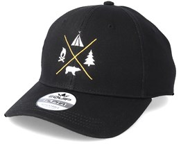 Camping Logo Black Adjustable - Wild Spirit
