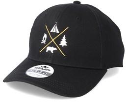 Camping Logo Black Adjustable - Wild Spirit