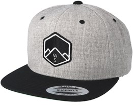 WS Badge Grey/ Black Snapback - Wild Spirit